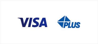 visaとplusマーク
