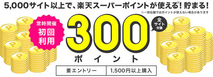 楽天ペイの300ポイントキャンペーン
