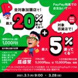 名鉄百貨店でPayPay(ペイペイ)がお得!2021年3月28日(日)まで誰でも5%還元特典実施