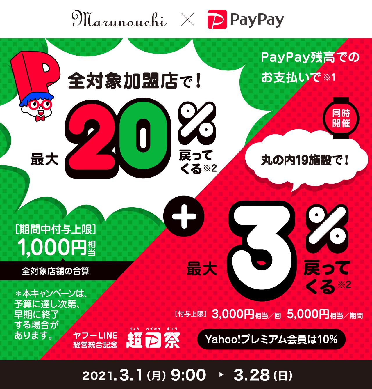 PayPayがお得!2021年3月28日(日)まで