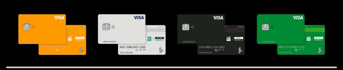 Visa LINE Payクレジットカードスタンダードデザイン