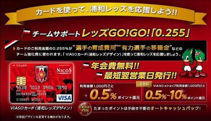 VIASOカード(浦和レッズデザイン)