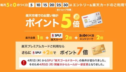 楽天市場で楽天カードがお得!2021年9月20日(月)はポイント5倍